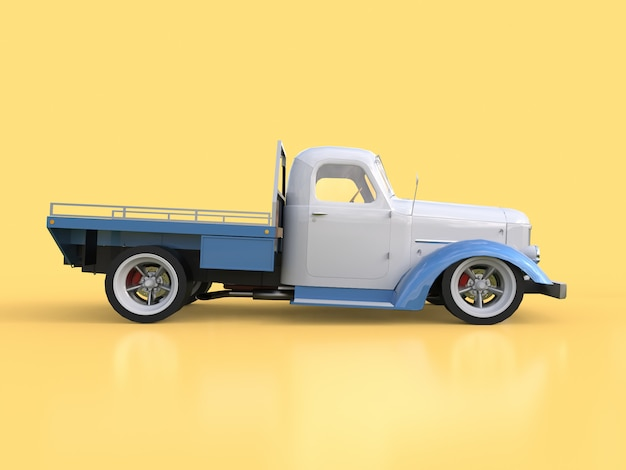 Vecchio pickup restaurato. pick-up nello stile di hot rod. illustrazione 3d