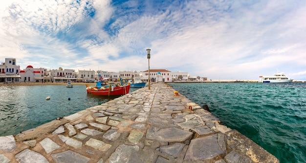 Vecchio porto di mykonos, in grecia