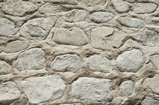 Vecchio primo piano di struttura del fondo della parete di pietra