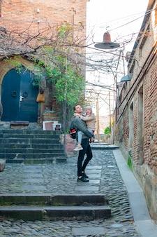 Vecchio quarto nella città di tbilisi, paese della georgia