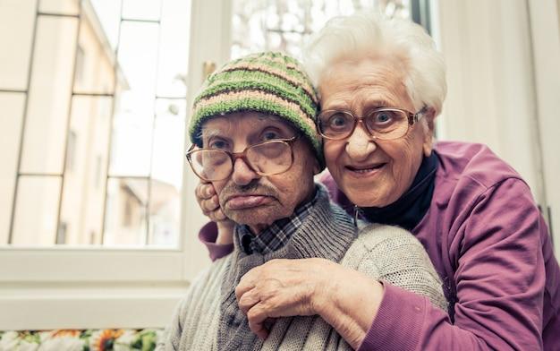 Vecchio ritratto di coppia