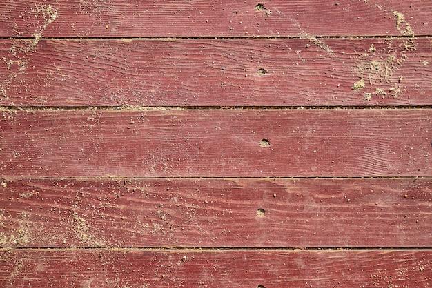 Vecchio rosso struttura di legno