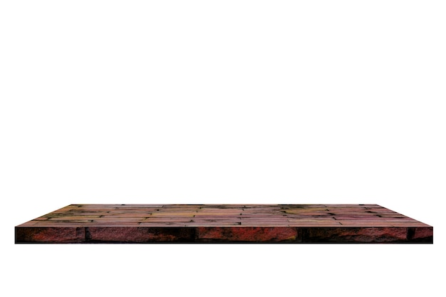 Vecchio scaffale del mattone su backgorund bianco.