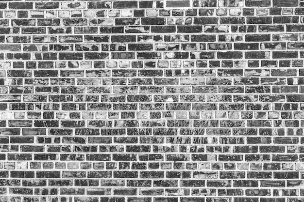 Vecchio sfondo di muro di mattoni. struttura del grunge. carta da parati nera