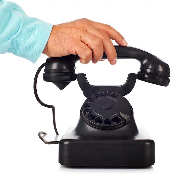 Vecchio telefono di bachelite retrò