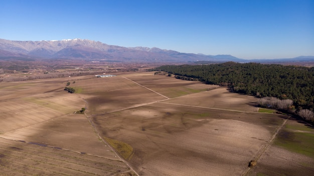 Veduta aerea dei campi del raccolto