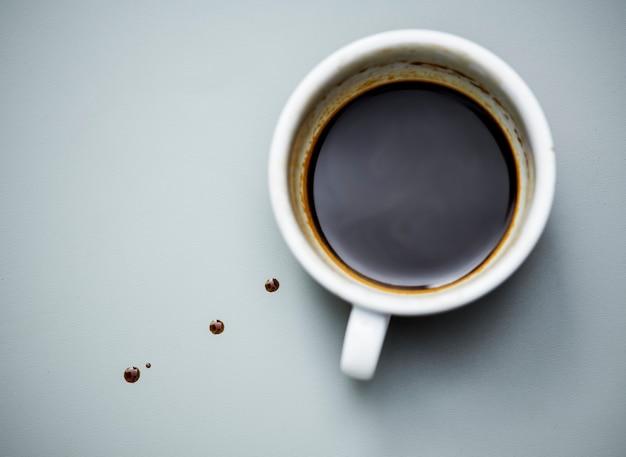 Veduta aerea del caffè caldo