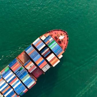 Veduta aerea del trasporto marittimo
