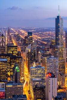 Veduta aerea di chicago skyline sud