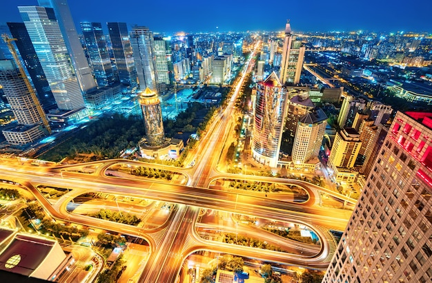 Veduta aerea di pechino
