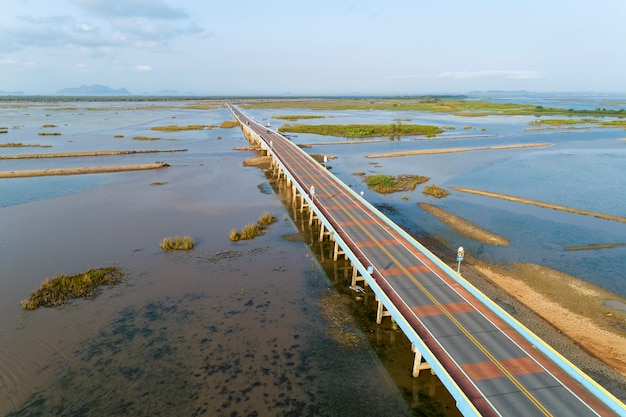 Veduta aerea drone shot of bridge