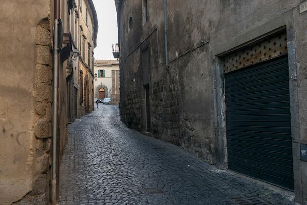 Veduta di un vicolo, orvieto, provincia di terni, umbria, italia