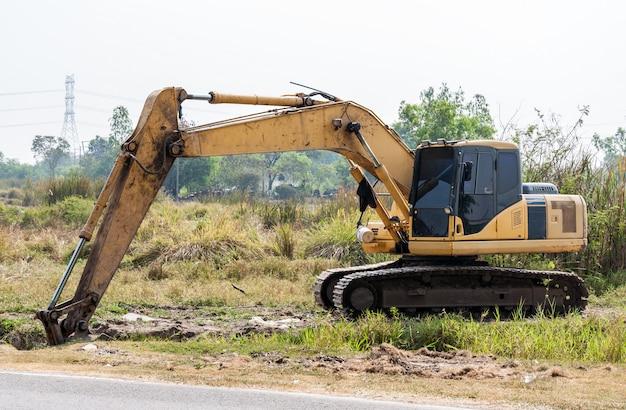 Veicolo di escavatore sporco