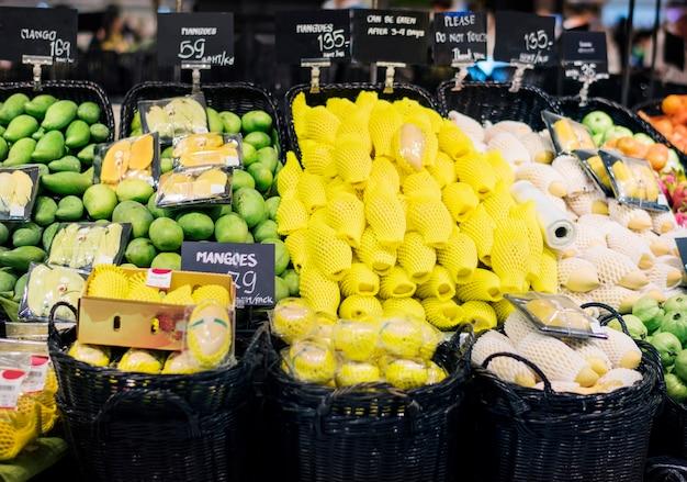 Vendita al dettaglio supermercato vendita al dettaglio mercato di frutta