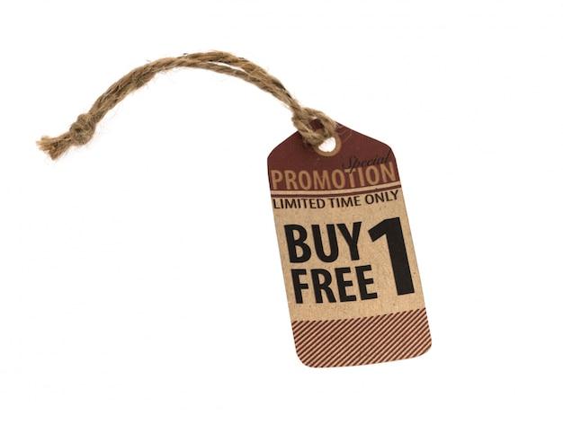 Vendita promozionale, buono, tag. stile vintage