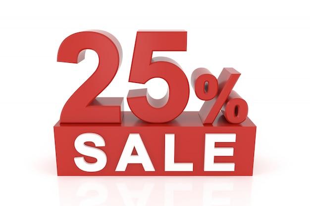 Venticinque percento di vendita