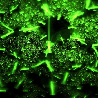 Verde brillante forme astratte frattali