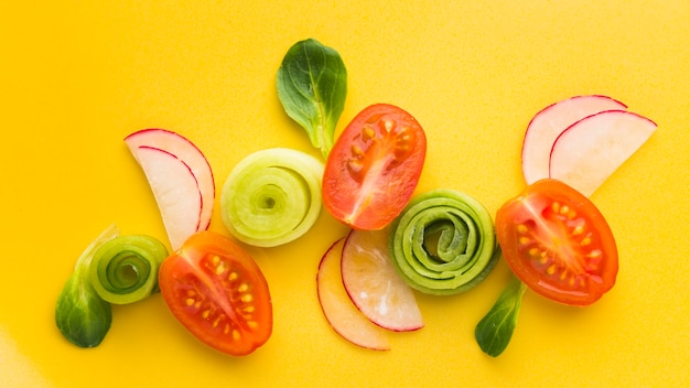 Verdure a taglio piatto