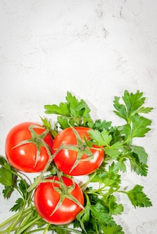Verdure e pomodori