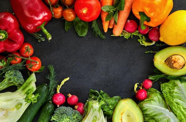 Verdure fresche e frutta.