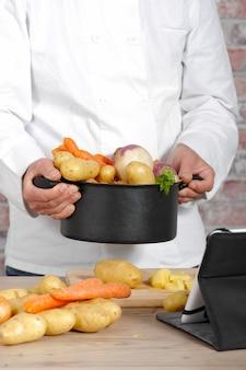 Verdure per la preparazione di pot-au-feu