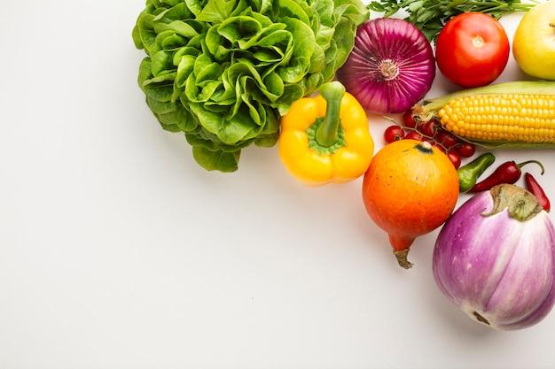 Verdure sane ricche di vitamine