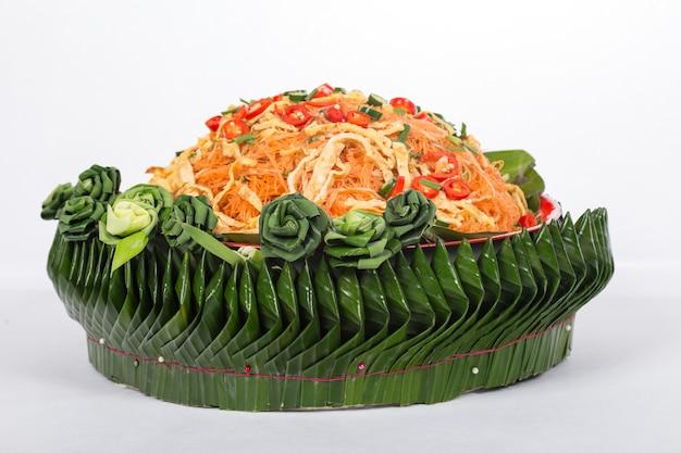 Vermicilli di riso fritto. cibo thailandese