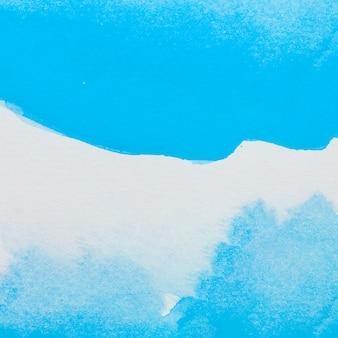 Vernici blu su foglio bianco
