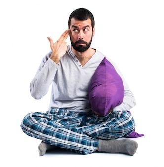 Vestiti frustrati vestito di gesti gesti