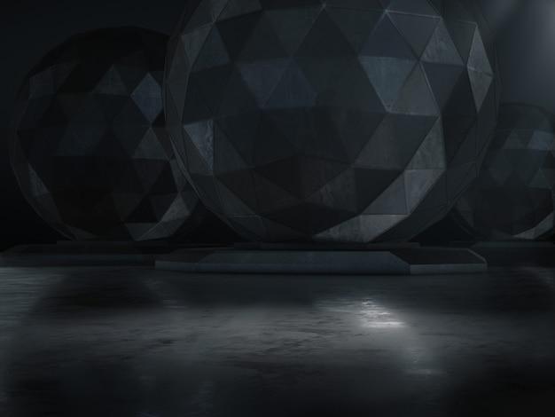 Vetrina del prodotto con punto luminoso acceso