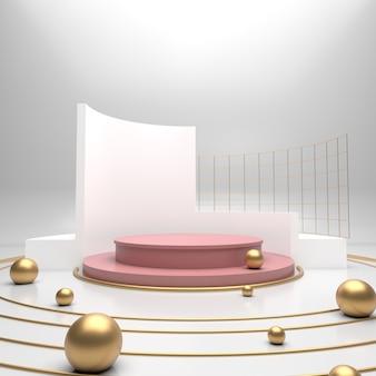 Vetrina del prodotto di sfondo 3d (cerchi)