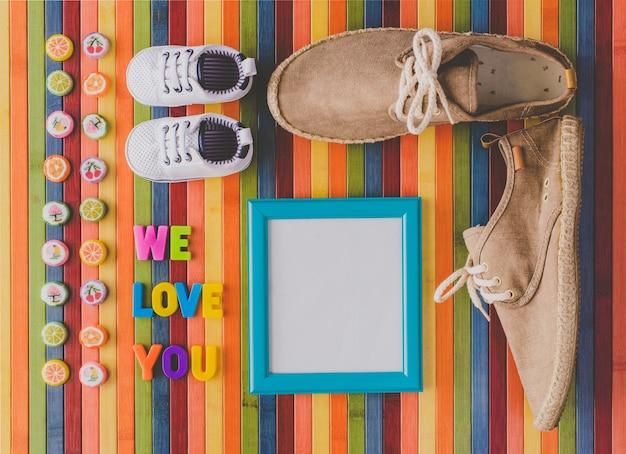 Vi amiamo per il neonato o il giorno dei padri
