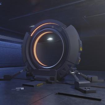 Viaggiare attraverso la porta del futuro con la velocità della luce.