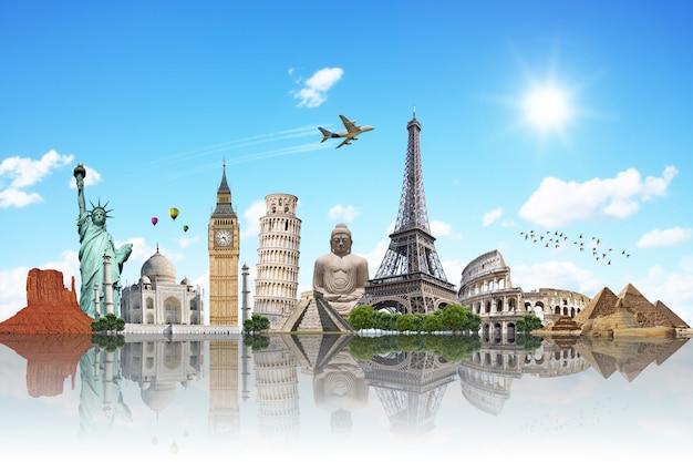 Viaggiare il concetto di monumenti del mondo