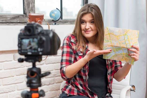 Viaggiatore vlogger