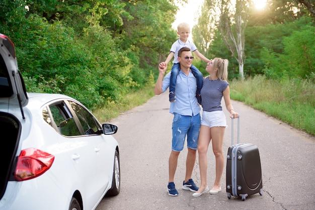 Viaggio in auto di famiglia