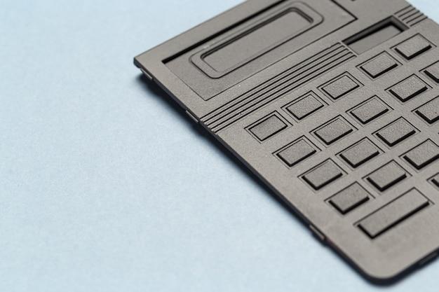 Vicino pulsanti calcolatrice in colore nero