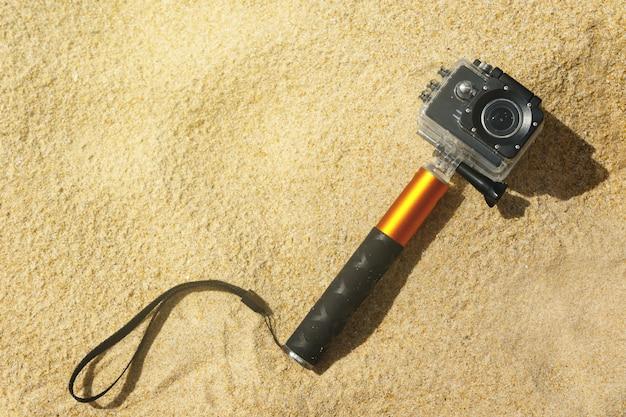 Videocamera d'azione sulla spiaggia