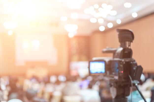 Videocamera vdo in sala conferenze per professione