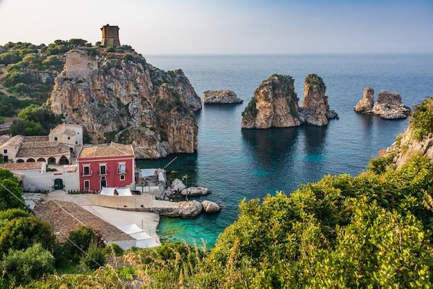 Villaggio di scopello in sicilia