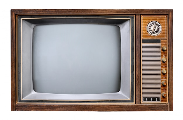 Vintage tv - televisore in legno antico.