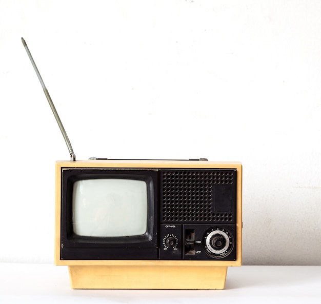 Vintage yellow tv