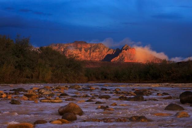 Virgin river e zion national park