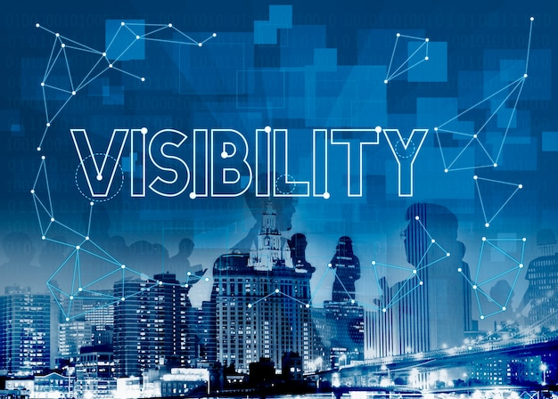 Vision visibility observable noticea graphic concept
