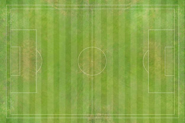 Vista aerea del campo di calcio, stadio di calcio, stadio di calcio