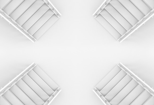 Vista aerea del fondo di scale di modo diverso direzione.