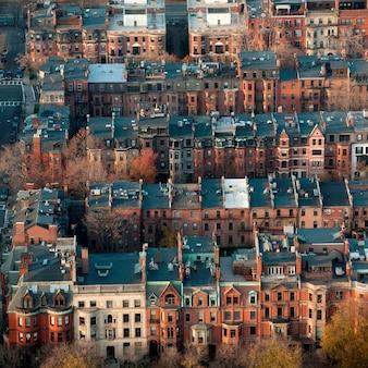 Vista aerea della città di boston, massachusetts, usa