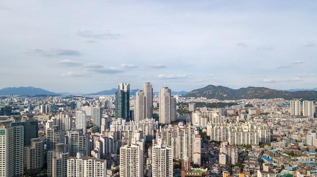 Vista aerea della città di seoul