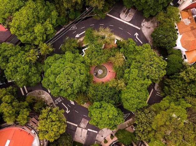 Vista aerea di città del messico polanco