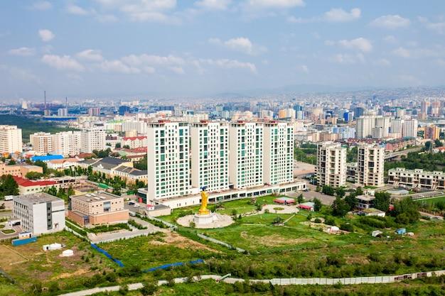 Vista aerea di ulaanbaatar, mongolia